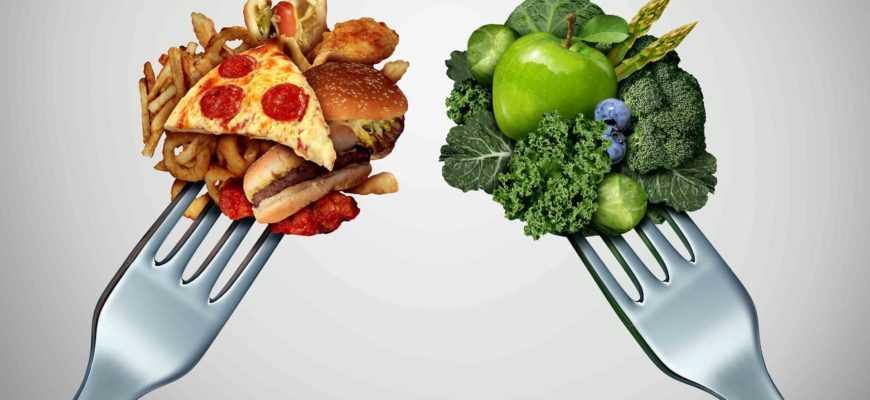 Вредная и здоровая еда